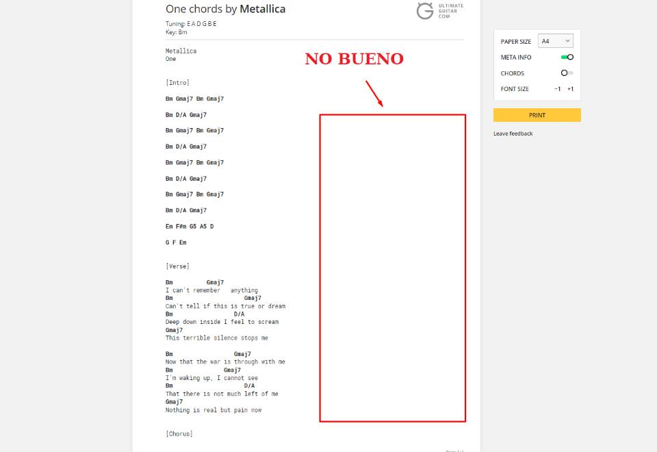Tab Printing Update Print In Two Columns Save Paper Music News
