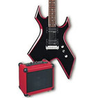 B.C. Rich: Red Bevel Warlock Pack