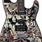 Squier: OBEY Graphic Stratocaster HSS Collage