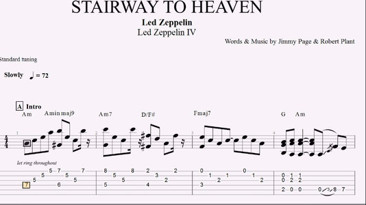 STAIRWAY TO HEAVEN CHORDS ver 2 by Led Zeppelin - mandegar.info