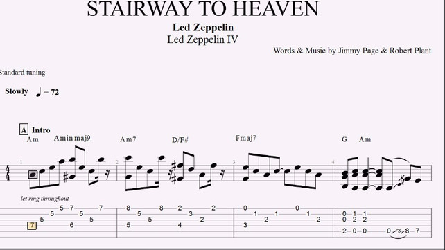 64+ Guitar Tabs Stairway To Heaven - How To Write Good Guitar Pro ...