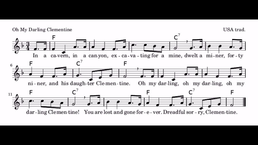how to play oh my darling clementine on guitar
