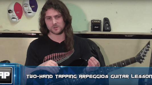 Guitar Tapping Lesson - Arpeggios