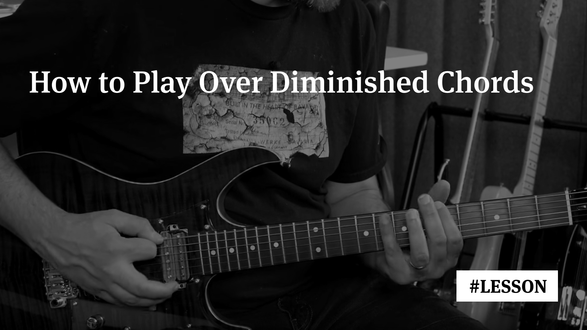How To Play Over Diminished Chords Improvisation Masterclass 5