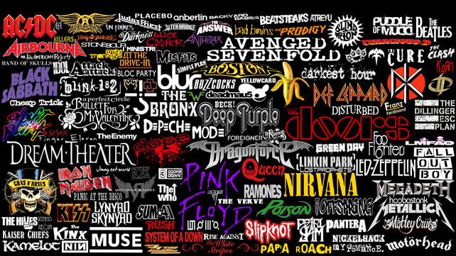 Famous music artist logos