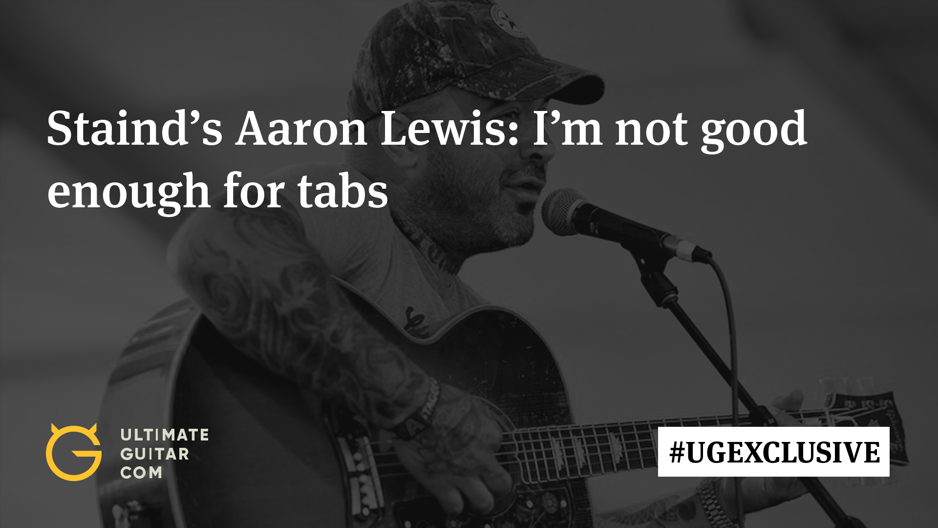 Stainds Aaron Lewis I Cant Play The Guitar Well Enough To Use