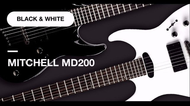 Try Your Luck And Win White Mitchell Md200 Double Cutaway Music