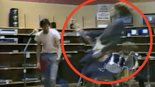 Watch Nirvana Rock an Aberdeen Radio Shack in 1988