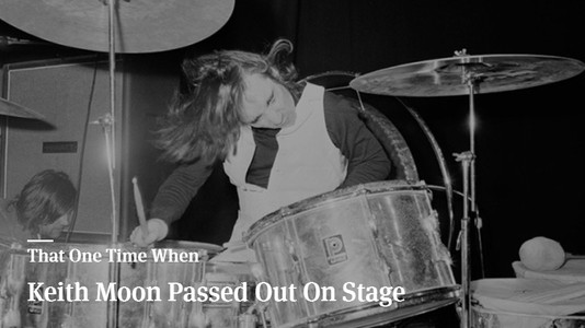 That One Time When Keith Moon Passed Out On Stage
