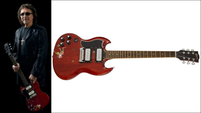 Gibson Unveils Tony Iommi 'Monkey' 1964 SG Special Replica Guitar. Only 50 Have Been Made