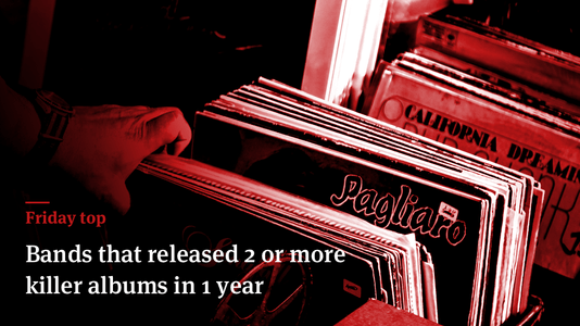 Friday Top: 25 Bands That Released 2 or More Killer Albums in 1 Year