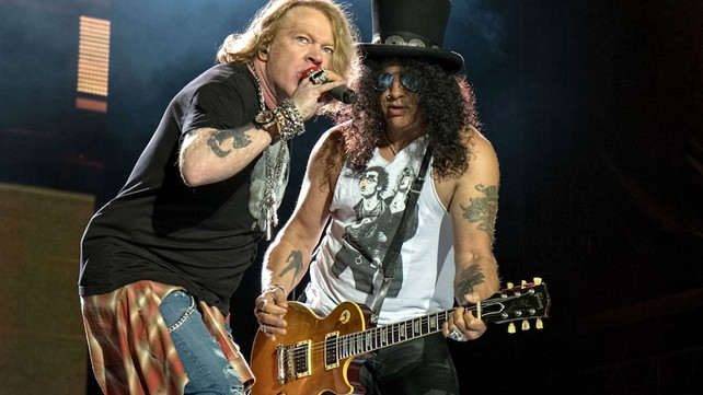 Watch: Axl Rose Sings Happy Birthday to Slash in Front of
