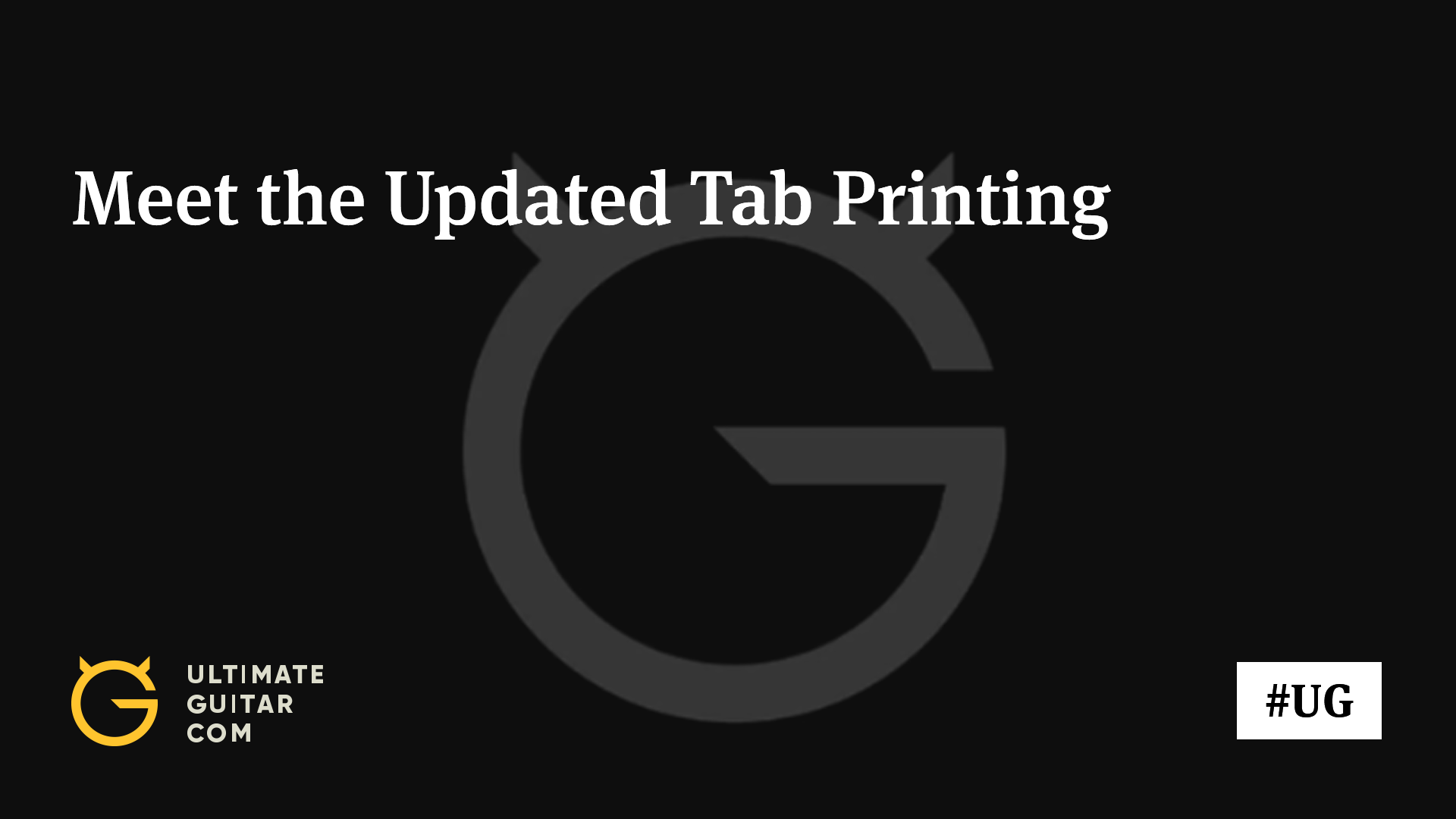 Meet The Updated Tab Printing Music News Ultimate Guitar