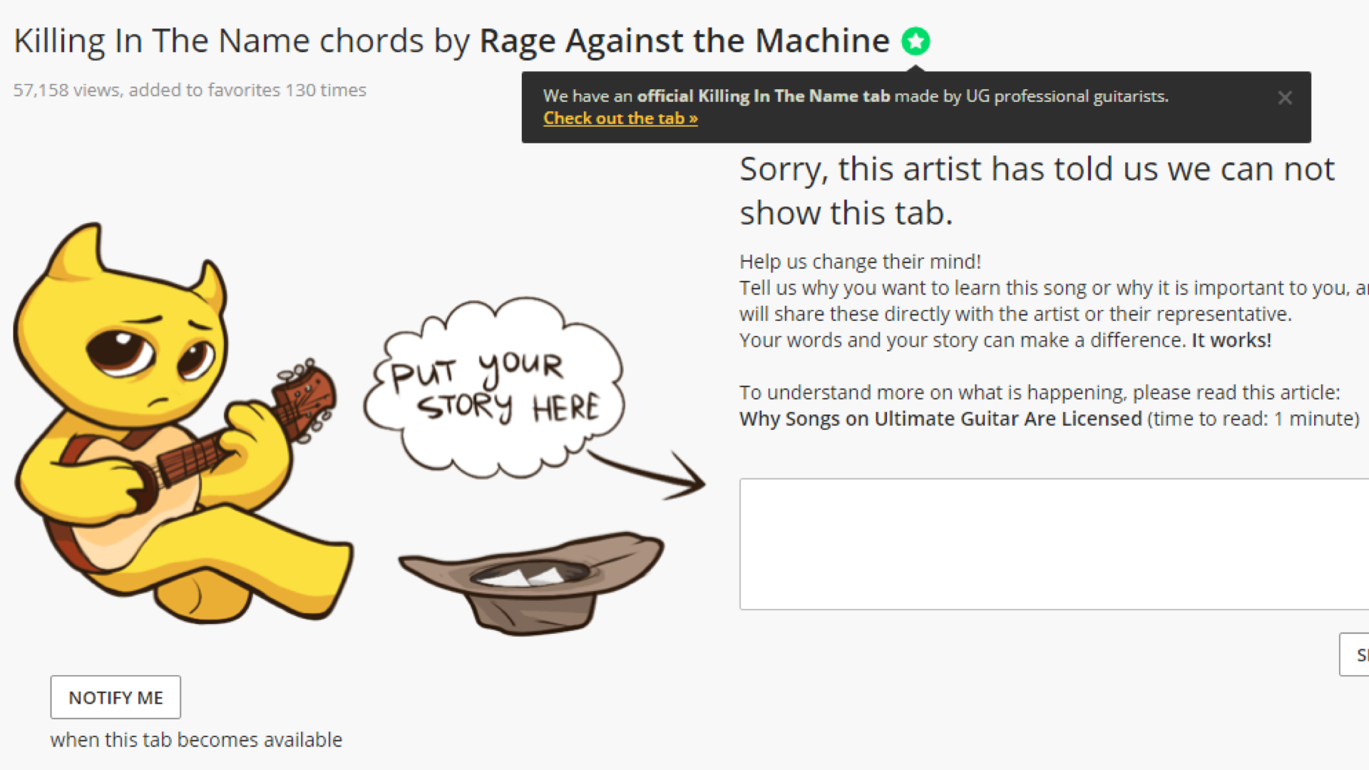 Here Is Why You See Ads And Dont Have Access To Ratm Tabs Music