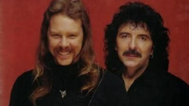 James Hetfield (Metallica) e Tony Iommi (Black Sabbath)