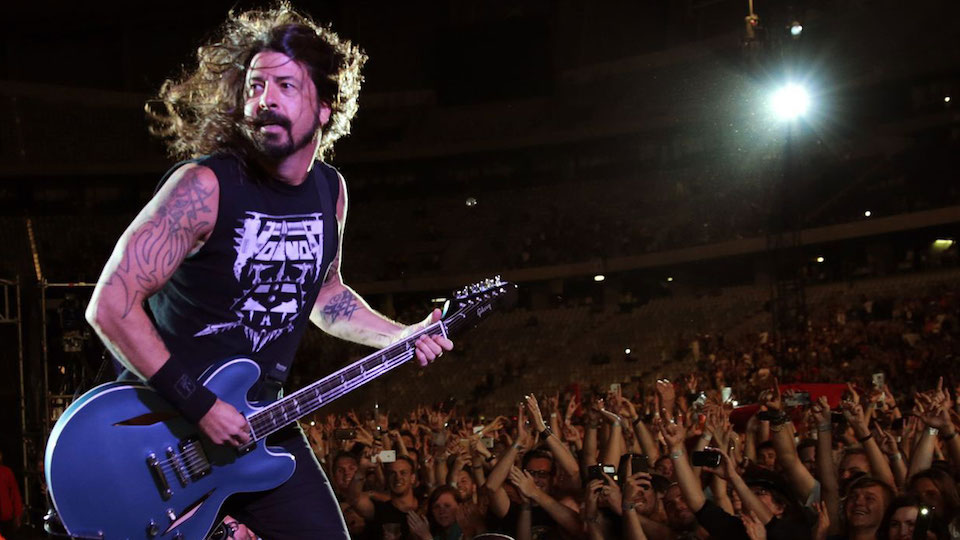Dave Grohl's eight-year-old daughter joins Foo Fighters on stage
