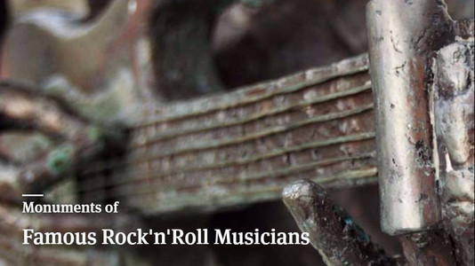 Monuments of Famous Rock 'n' Roll Musicians