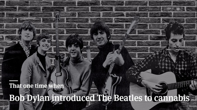 That One Time When Bob Dylan Introduced The Beatles To Cannabis