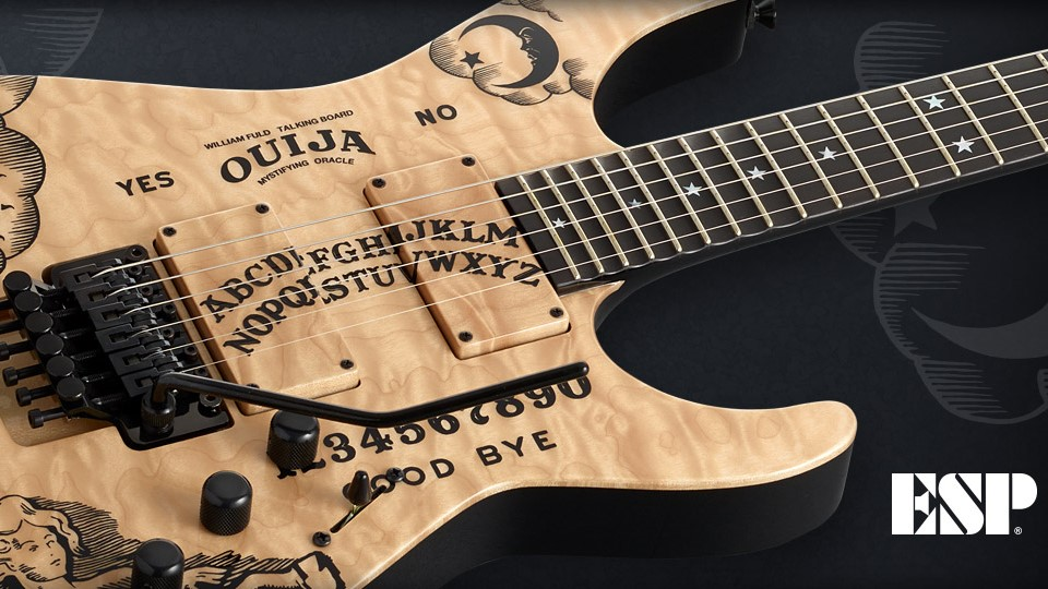 Forum Article New Guitars ESP Launches Limited Edition Kirk Hammett Ouija Natural