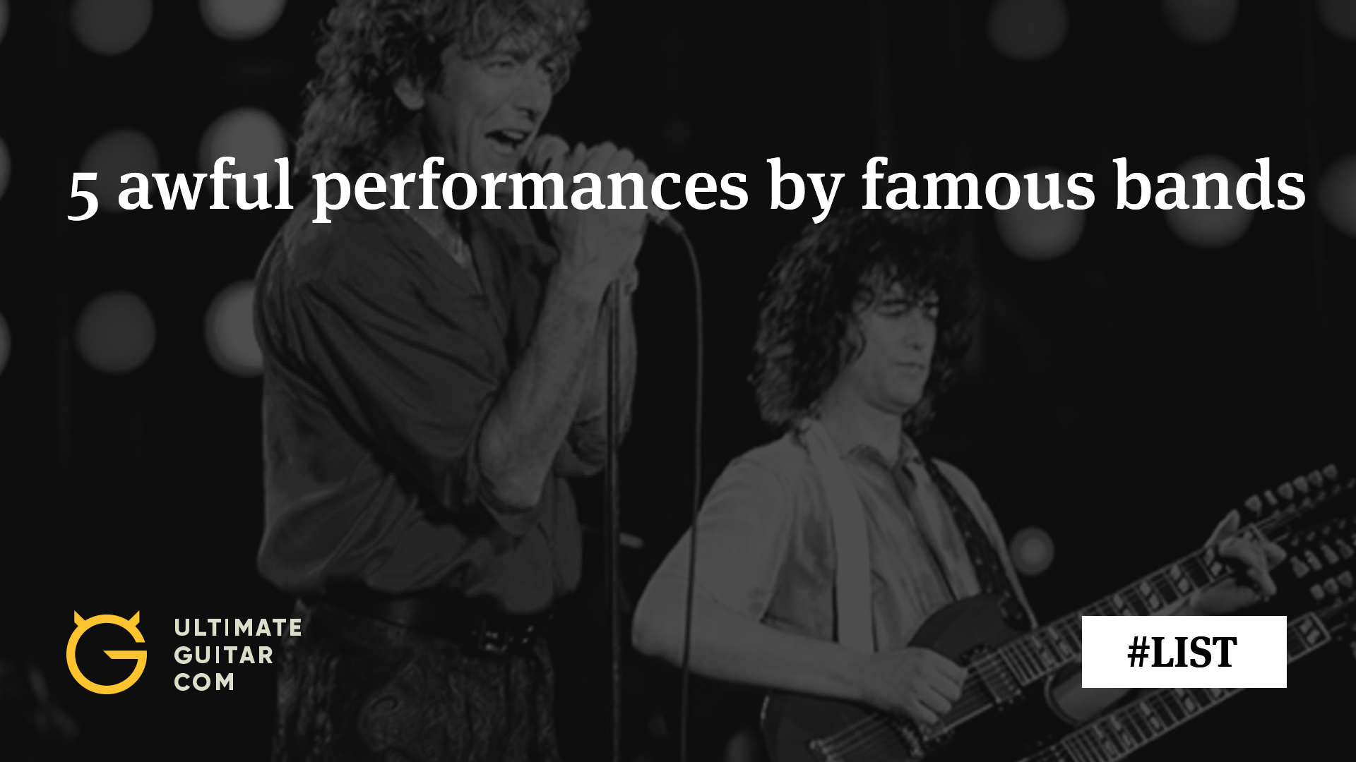 5 Awful Performances By Famous Rock Bands Articles Ultimate