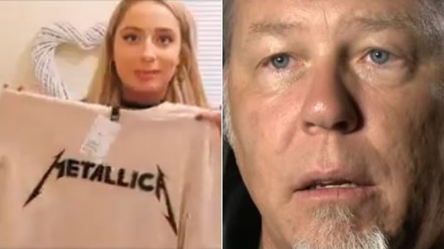 Watch: Woman Shows Great Love for Metallica T-Shirts, Has No Idea