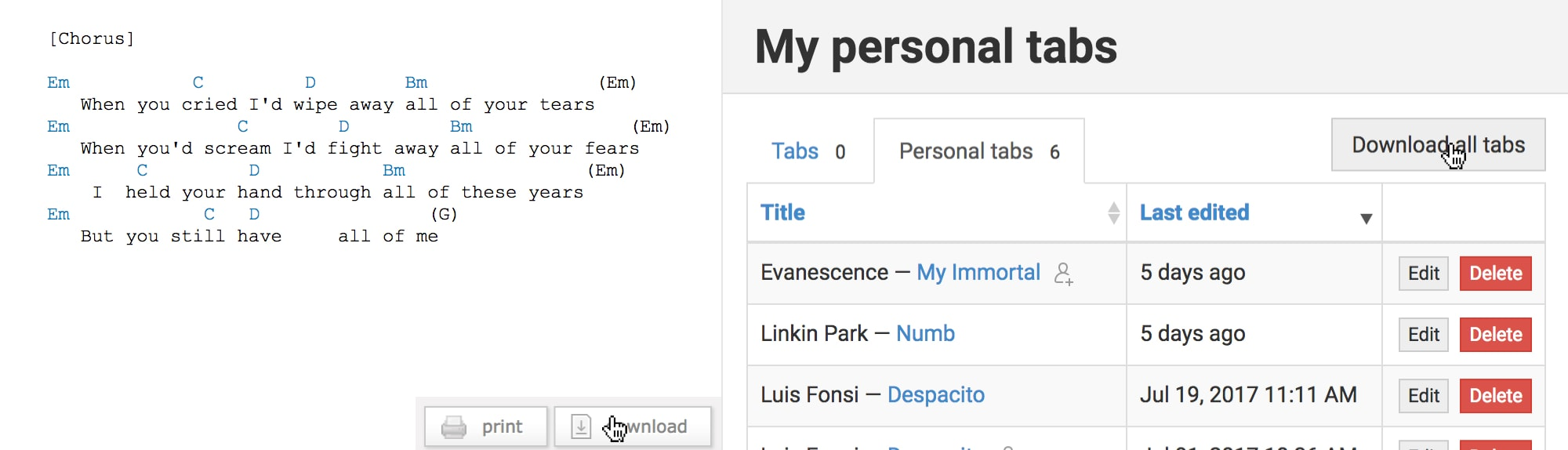 Introducing Personal Tabs