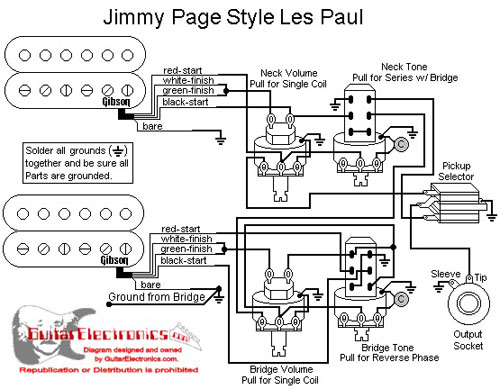 Les Paul EMG Jimmy Page wiring Ultimate Guitar
