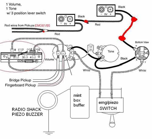 emg wiring diagram 81 85 1 volume 1 tone   40 wiring diagram images
